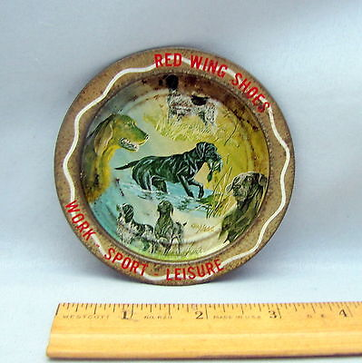 Tip Tray - 3 1/2 in. Diameter Round Advertising - RED WING SHOES