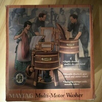 NEW - Vtg 1993 ERTL Antique MAYTAG Multi Motor WASHER (1/6 Scale die-cast) w/box