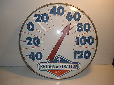 "Old Vintage Briggs & Stratton Gas Engine Original Dealer 18"" Thermometer"
