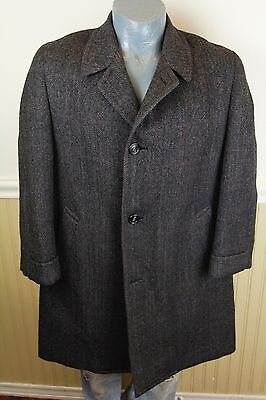Vintage 50s Mountaineer 44 Short Outercoat Charcoal Gray Wool Coat