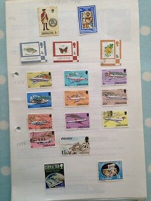 18 1976 to 1984 Gibraltar Stamps
