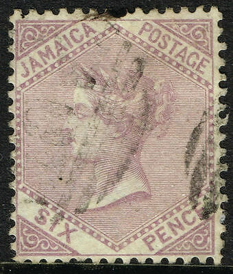 SG 5 JAMAICA 1860 - 6d DULL LILAC - USED