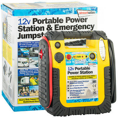 Streetwize 12V Portable Power Station Emergency Jump Starter Car Battery charger