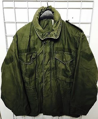Vietnam era US Army M-65 Vintage Military Field Jacket size Large SHORT Clean!