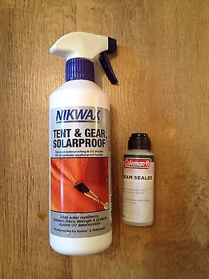 Waterproofing kit with Nikwax Tent & Gear Solarproof and Coleman Seam Sealer