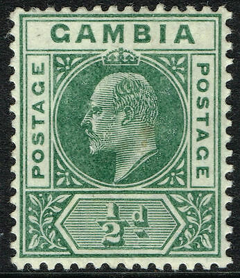 Sg 45 Gambia 1902 - Halfpenny Green - Mounted Mint