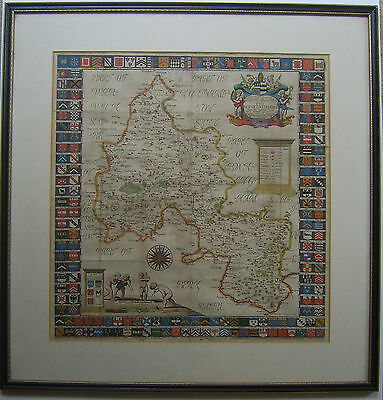 Oxfordshire: antique map by Robert Plot 1677