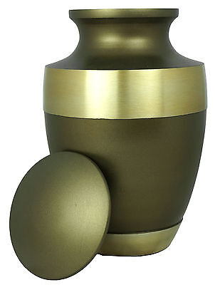 Adult Full Size Urn Brown Gold Cremation Metal Urn for Ashes Memorial Tribute