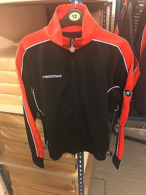 15 x PROSTAR Vapor Poly track Jacket Black/Red Football Training Sports Tops New