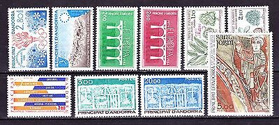 Andorre  Annee 1984 Complete   Timbres Neufs++