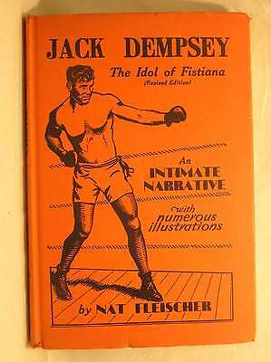 Jack Dempsey the Idol of Fistiana Revised Edition, Nat Fleischer, Good Book