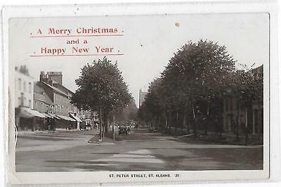 Hertfordshire St Peter Street St Albans  A Merry Christmas & A Happy New Year