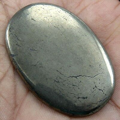 87.10 cts Natural Beautiful Golden Pyrite Gemstone Oval Shape Loose Cabochon