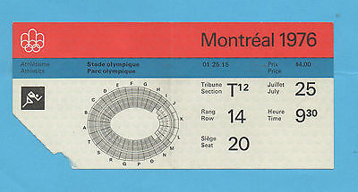 Orig.ticket  Olympic Games MONTREAL 1976 - Athletics 25.07./ 4 FINAL`s  !!  RARE