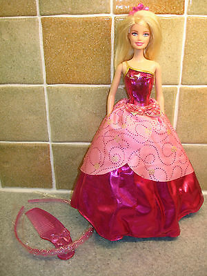 Barbie Princess Doll with 2-in-1 Dress. Includes a Comb and a Childs Hairband