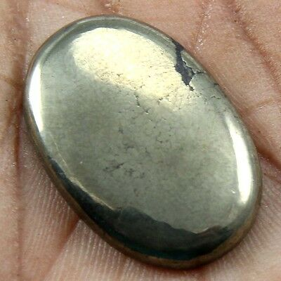 42.20 cts Natural Beautiful Golden Pyrite Gemstone Oval Shape Loose Cabochon
