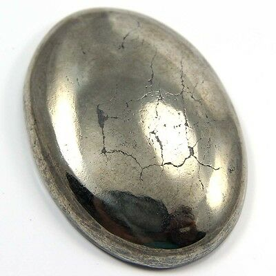 153.90 cts Natural Beautiful Golden Pyrite Gemstone Oval Shape Loose Cabochon