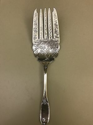 Tuscan Pattern Coin Silver Serving Fork