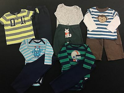 Infant Baby Boy Clothes 6-9 Months Long Sleeve Shirts Pants Outfits Mixed Lot