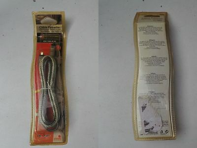 Cable Fire Wire IEEE 1394 4C/4C THESYS 2 Connecteurs L = 1.80 m 4 Contacts Mâle