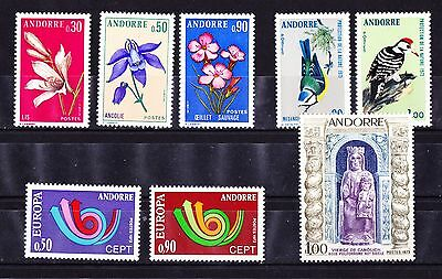 Andorre  Annee Complet De 1973  Timbres Neufs++