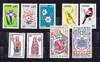 Andorre  Annee Complete De 1974  Timbres Neufs++