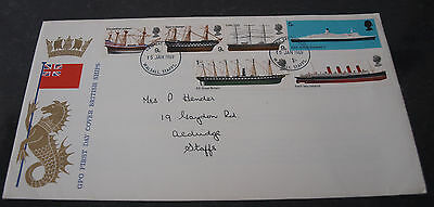 First Day Cover of British Ships 15th Jan 1969