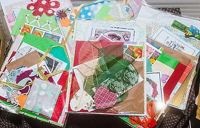 Craft activity pack beads,card,fabric die cuts,ribbons,findings,papers tags lace