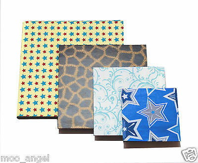 "100 pieces of paper and card Crafts Scrap booking 6""  5""  4""  3"" x 25 square"