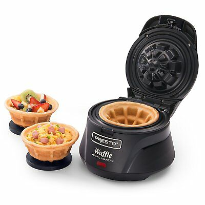Electric Belgian Bowl Waffle Maker Machine Breakfast Dessert Baker Exciting NEW