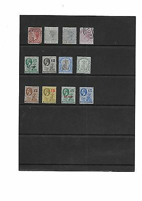 12 Early Montserrat Stamps