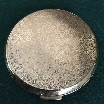STRATTON Vintage Gold Coloured Powder Compact. Unused with Leaflet.