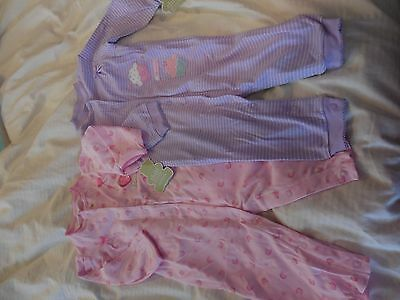 Child of Mine by Carters girls 6-9 months cotton sleepers  2pk  NEW