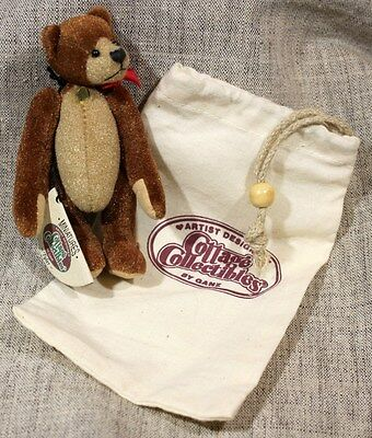 "GANZ COTTAGE COLLECTIBLES MINIATURES ""TYLER"" Bear MARY HOLSTAD Mint w/Bag & Tag"