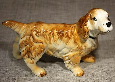 "Japan ""Irish Setter"" Pottery Figurine Handpainted Face & Collar 1960s"