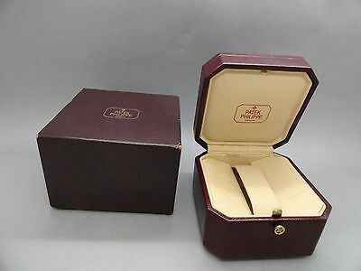 New Old Stock Vintage Patek Philippe Empty Watch Box Square Burgundy + Outer Box
