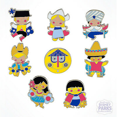 Disney Parks It's A Small World Mystery Collection Pin Box - 2 Random Pins