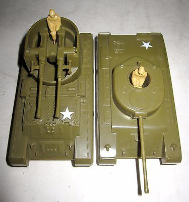 (2) Vintage 1950s PYRO Hard Plastic Military Vehicles For Railroad Flat Cars