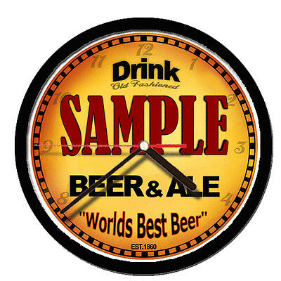 Personalized Name  Beer Ale Brewery Micro Home Brew  Wall Clock