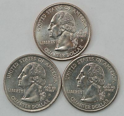 Set of 3: 2004-D Clad Wisconsin State Quarter Extra Leaf High/Low Variety *Q10