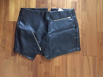 Zara Short Jupe Faux Cuir Taille S 40 Comme Neuf Hiver 2016