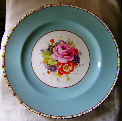 Royal Crown Derby Cabinet Plate Frederick Chivers signed 1940