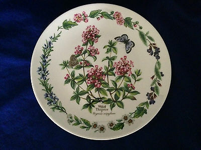 "ROYAL WORCESTER HERBS 'wild tyme' DECORATIVE 7.5"" PLATE by Bradex Ltd Ed PERFECT"