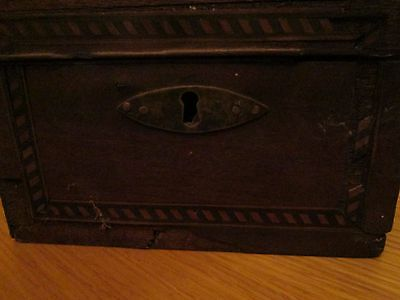 Vintage jewellery box wooden small need repair