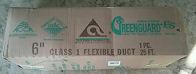 """NEW ATCO Insulated Flexible Duct 6"""" x 25' Heating AC Vent Venting 070RF 17002506"""