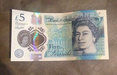 """New Five Pound Note Low """"AA"""" Serial Number"""