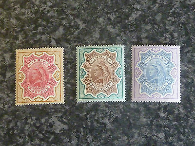 India Postage Stamps Sg107-109 (2R-5R) Lmm