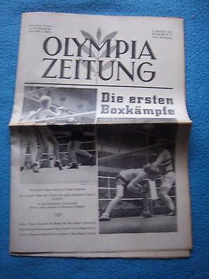 Orig.PRG / Newsletter  Olympic Games BERLIN 1936 - 11.08. / all Events  !!  RARE