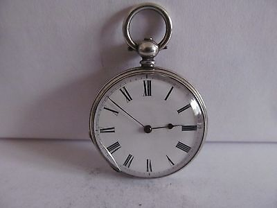 antique fob pocket watch fine silver very good condition not working