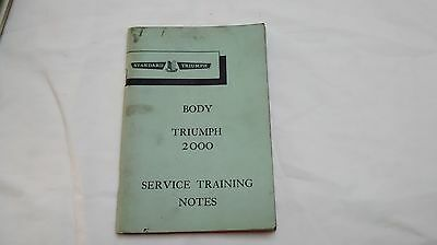 Triumph 2000 Body Service Training Notes